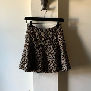 Free People Leopard Skirt